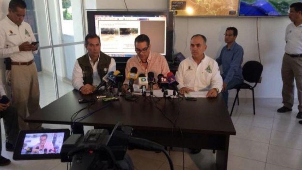 Autoridades explican las causas de la falta de agua Foto: PC Chiapas