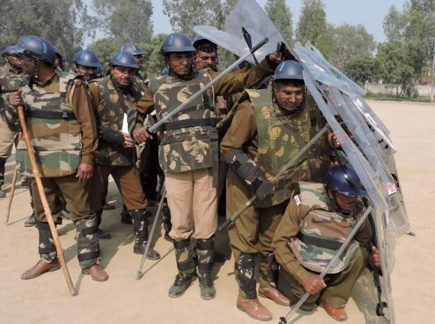Police officers in Haryana are often asked to control violent protestors