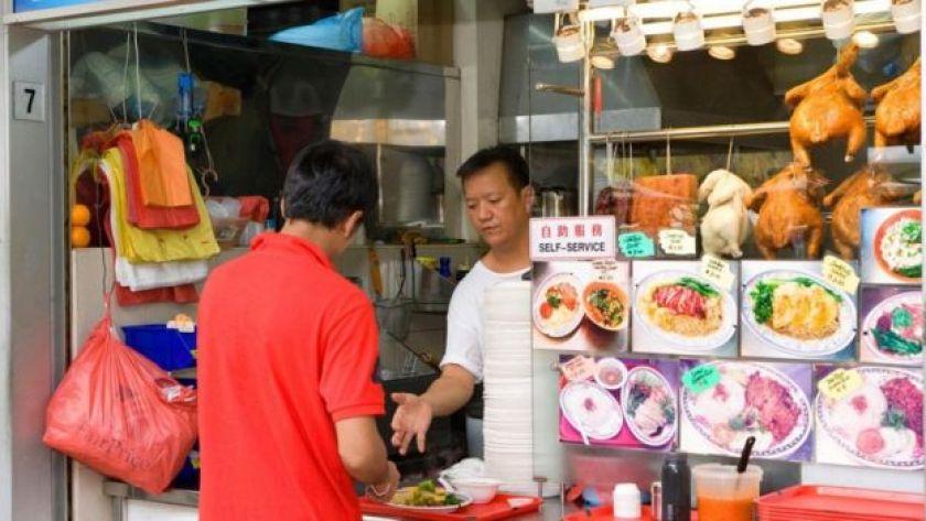 Singapur'da bir restoran