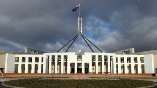 O Parlamento em Canberra