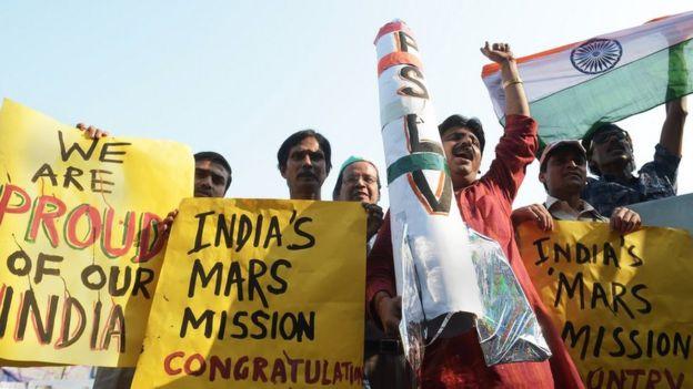 Indians celebrate Mars mission