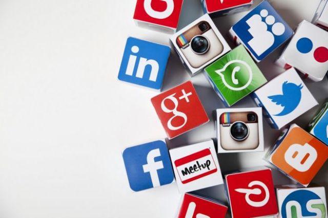 Logos de redes sociales.
