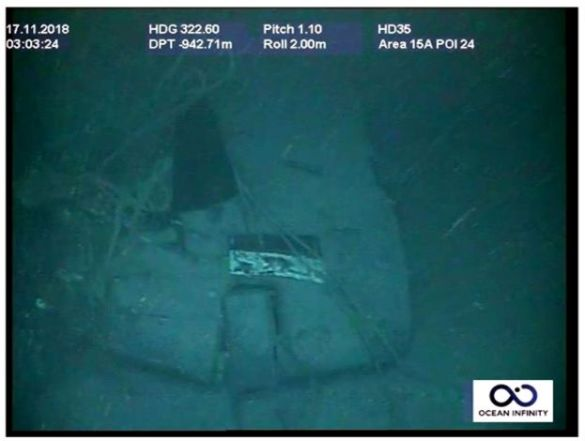 Fotografía divulgada por la Armada de Argentina, que muestra los restos del ARA San Juan.
