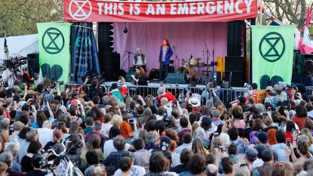 Greta Thunberg on stage
