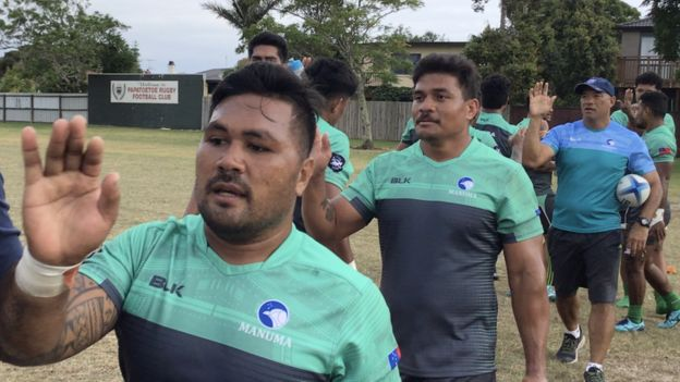 Pre-match training in Auckland