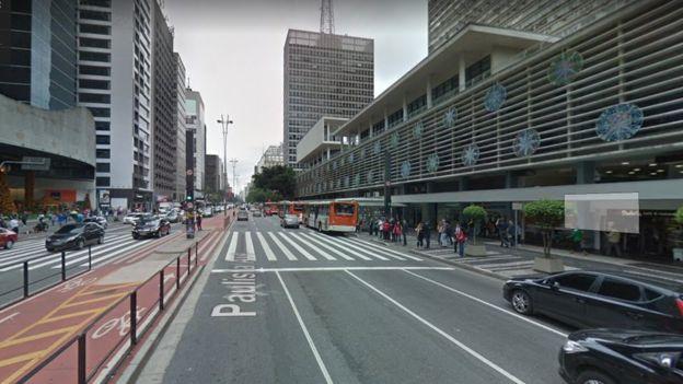 Imagem da av. Paulista hoje