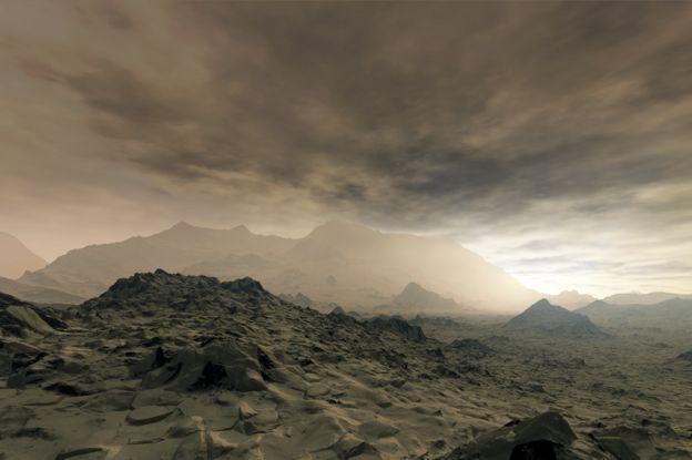 Representación de lo que podría ser la superficie de Venus.