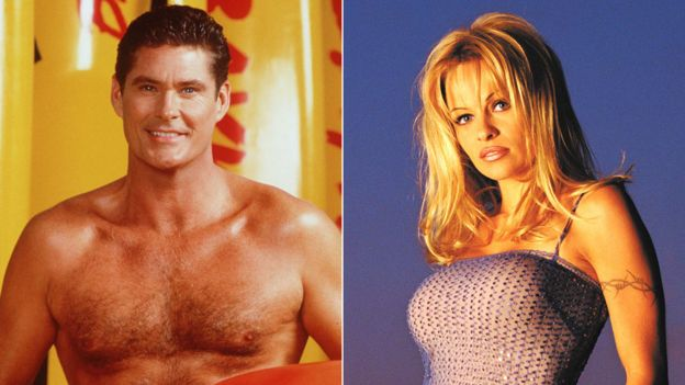 David Hasselhoff and Pamela Anderson