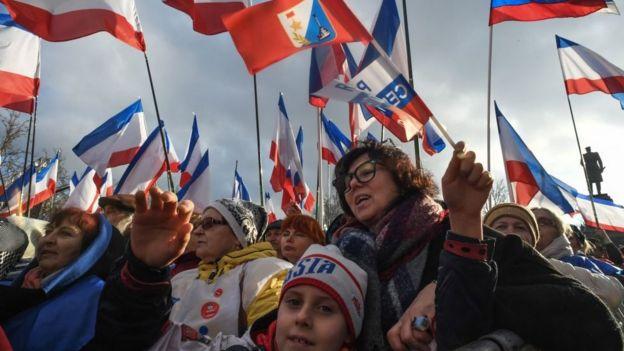 Prorrusos en Crimea.
