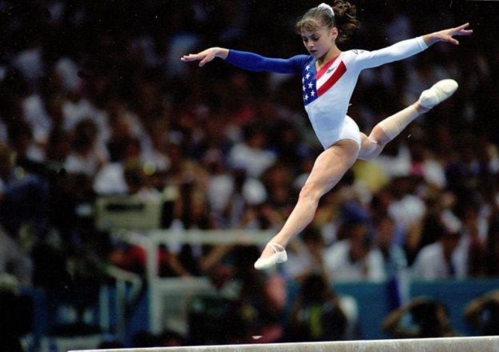 Dominique Moceanu nos Jogos de Atlanta, em 23 de julho de 1996