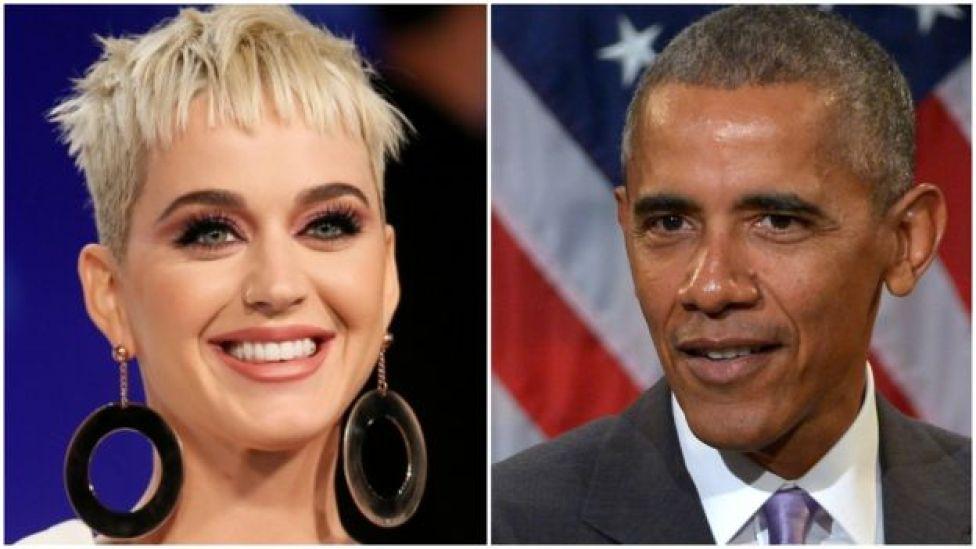 ABD'li şarkıcı Katy Perry ve eski ABD Başkanı Barack Obama
