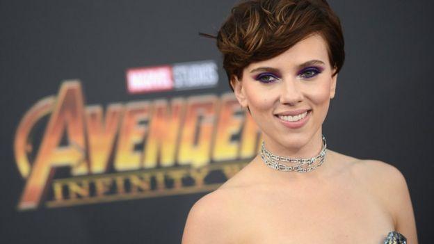 Scarlett Johansson at premiere of Avengers: Infinity War