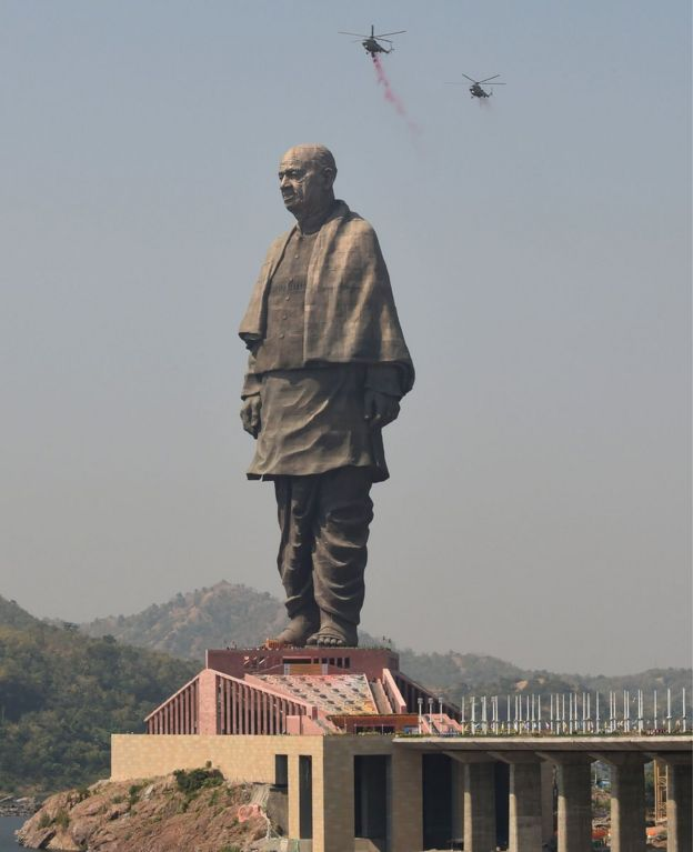 "The world's tallest statue, ""the Statue Of Unity"""