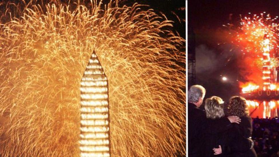 Festejos de fin de año en Washington en 1999.
