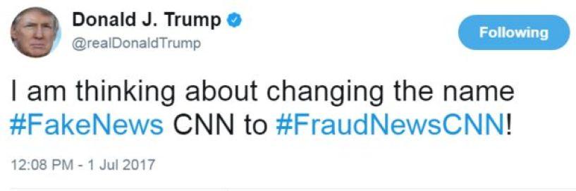 Donald Trump writes:
