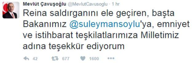 Çavuşoğlu'nun kutlama mesajı