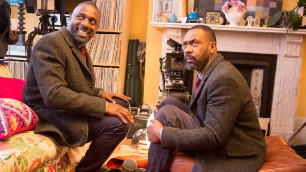Idris Elba with Sir Lenny Henry