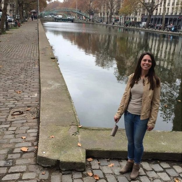 Mandy Palmucci in Paris the day before the attacks