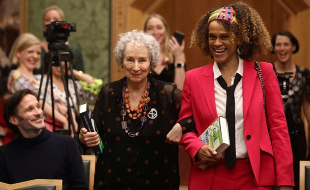 Margaret Atwood (left) and Bernardine Evaristo