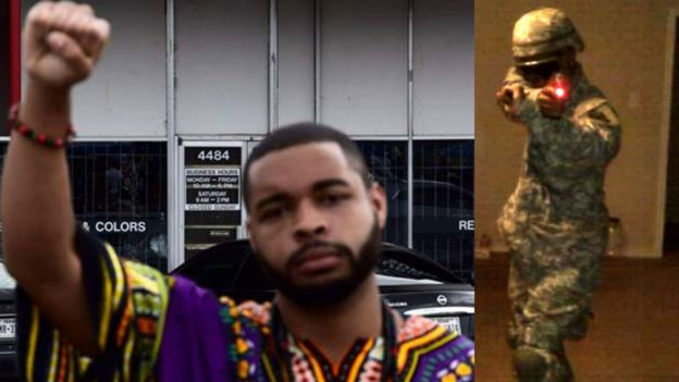 Images from the Facebook page of Micah Johnson