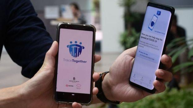 Una aplicación sobre el covid-19 en Singapur