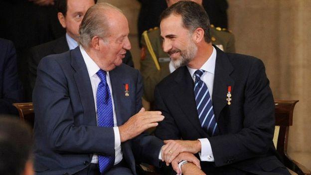 Juan Carlos I y Felipe VI