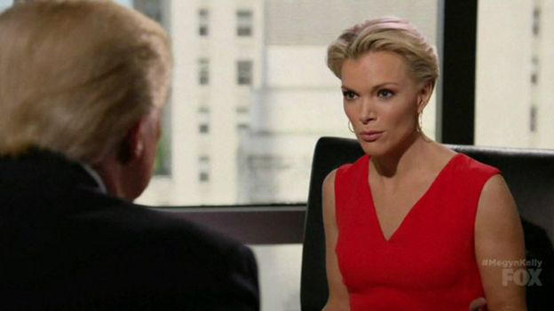 Donald Trump and Megyn Kelly, 17 May