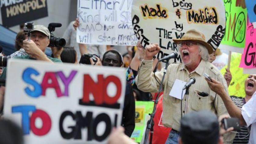 GDO'lu tarım üretimi protestosu