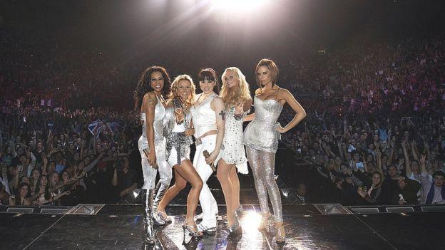 Spice Girls en concierto en Nueva York en 2008.