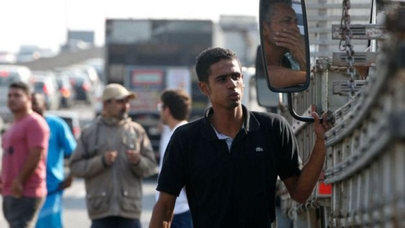 Protesto na rodovia Dutra, no Rio
