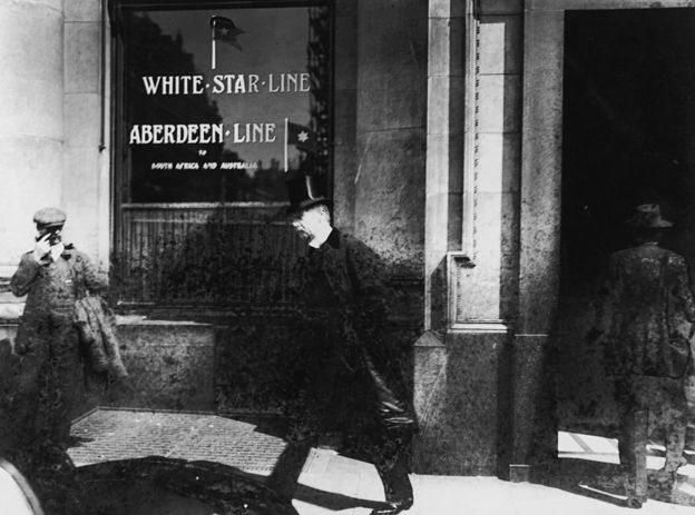 Oficina de la compañía White Star Line (Línea Estrella Blanca), dueña del Titanic.