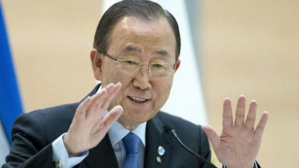 El actual Secretario General de la ONU, Ban Ki-moon.