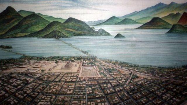 Una pintura de Tenochtitlan