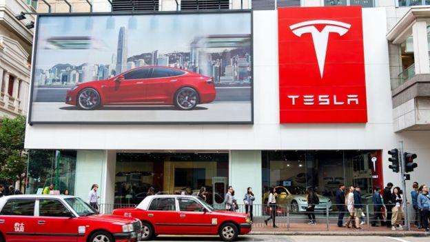 Tesla store Hong Kong