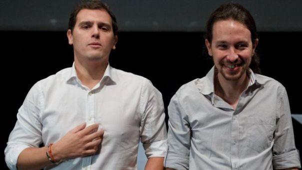 Albert Rivera (izquierda) y Pablo Iglesias