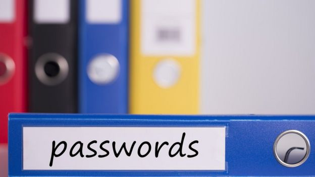A folder labelled 'passwords'