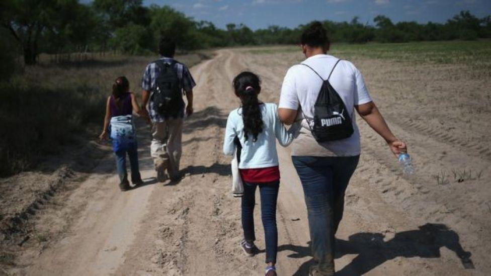 Migrantes centroamericanos en ruta a EE.UU.