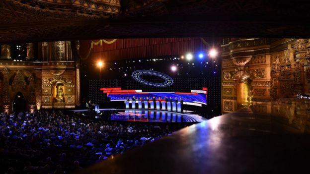 The Detroit debate stage