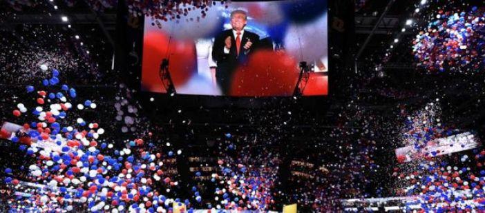 Fiesta de celebración del triunfo de Donald Trump.