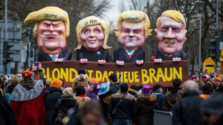 Bir Alman karnavalında üzerinde