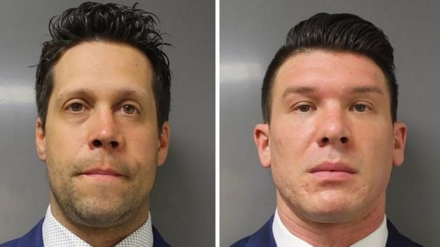 Aaron Turgalski and Robert Maccabi denied the charges against them
