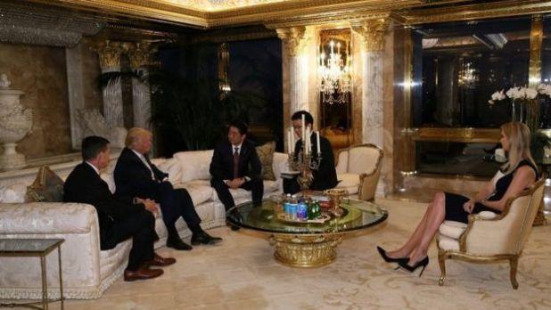 Reunión de Trump y Abe