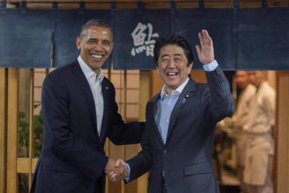 Obama, junto a Abe en abril de 2014.