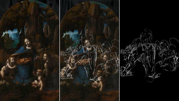 """Resultado de imagen de La Galería Nacional de Londres """"desnuda"""" a la Virgen de Leonardo da Vinci"""