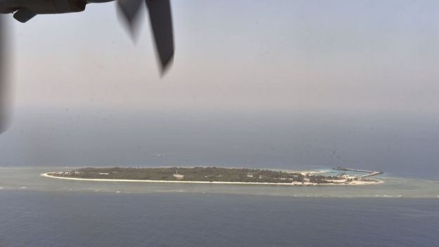 Spratly island in S China Sea