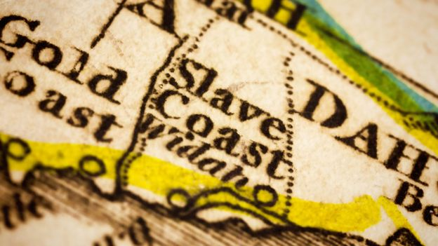 Map of 'Slave Coast'