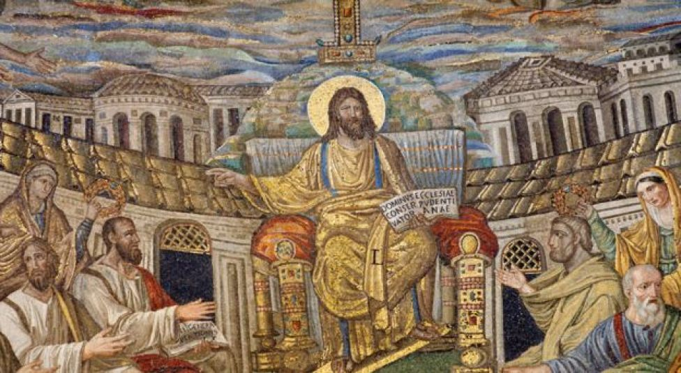 Mosaic of Jesus the Teacher from Santa Pudenziana church from 4th Century - restored in the 16th Century
