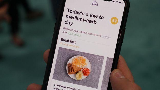 The Lumen app suggesting a recipe