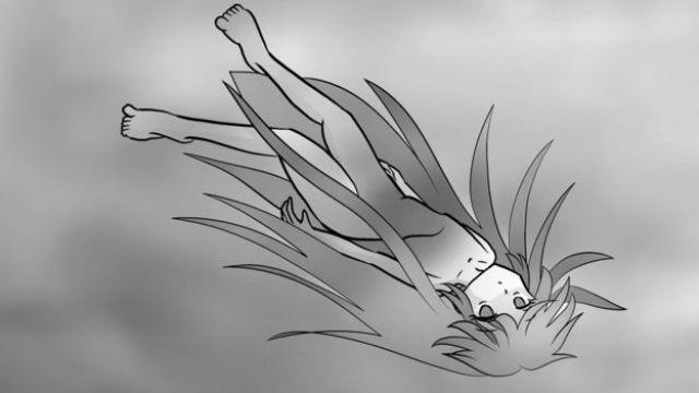 Imagen de una persona flotando