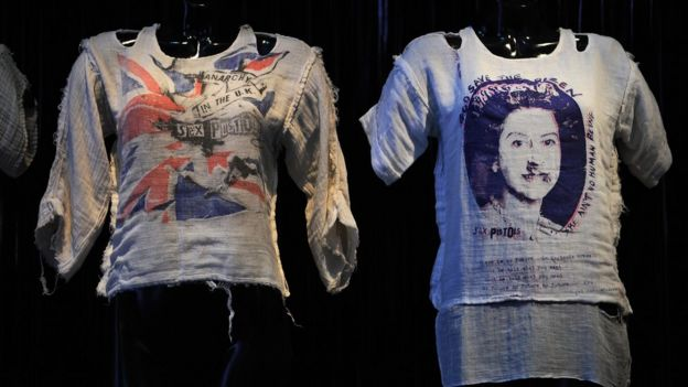 Vivienne Westwood's punk t-shirts on display in New York
